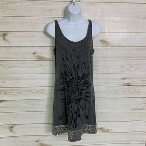 Grey tunic tank top by Express